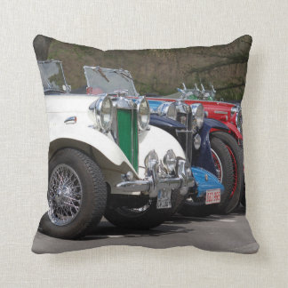 British cars, 1930ties, photo Jean Louis Glineur Throw Pillow