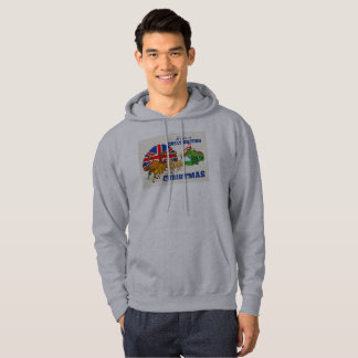 British Christmas Hooded Sweatshirt