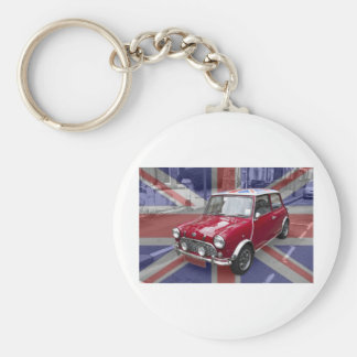 British Classic Mini car Key Chain