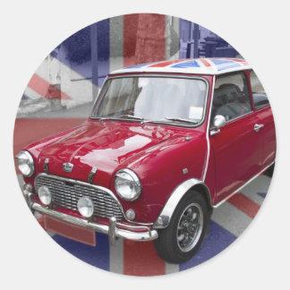British Classic Mini car Round Sticker