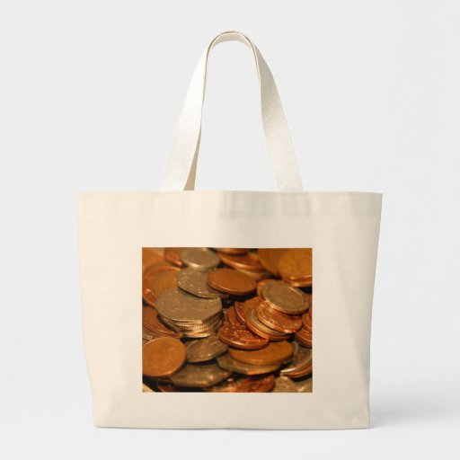 British Coin Money Canvas Bags