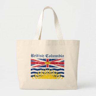 british colombia Canada Flag design Tote Bags