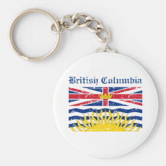 british colombia Canada Flag design Key Chain