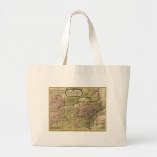British Colonies in America Map (1765) Large Tote Bag