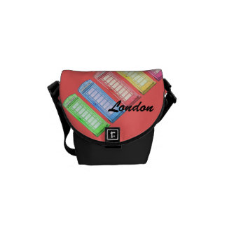 british colourful phone booths courier bag