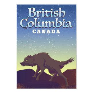 British Columbia Canada Wild Wolf poster