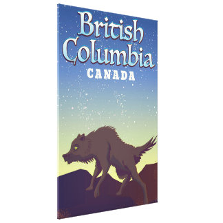 British Columbia Canada Wolf poster Canvas Print