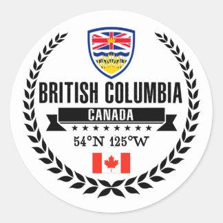 British Columbia Classic Round Sticker