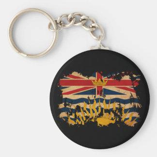 British Columbia Flag Basic Round Button Key Ring