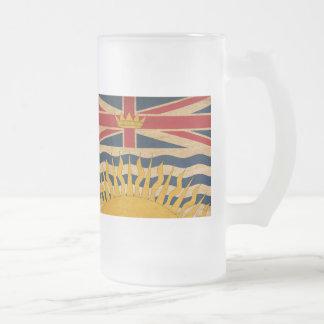 British Columbia Flag Frosted Glass Mug