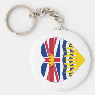 British Columbia Flag Heart Keychain