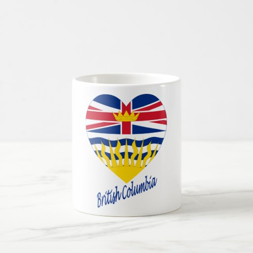British Columbia Flag Heart with Name Coffee Mug