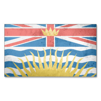 BRITISH COLUMBIA Flag Magnetic Business Cards