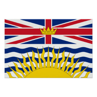 British Columbia Flag Poster