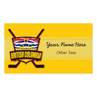 British Columbia Hockey Custom Business Cards