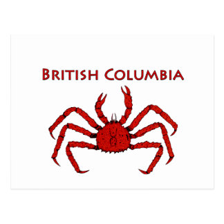 British Columbia King Crab Postcard