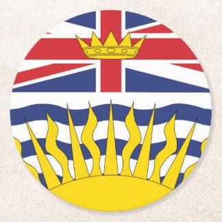 British Columbia Round Paper Coaster