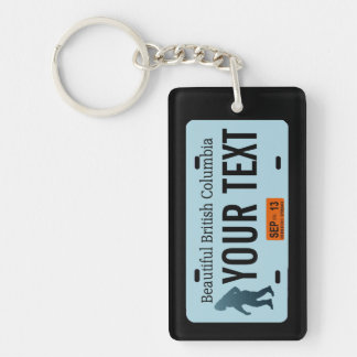 British Columbia Sasquatch License Plate Single-Sided Rectangular Acrylic Key Ring