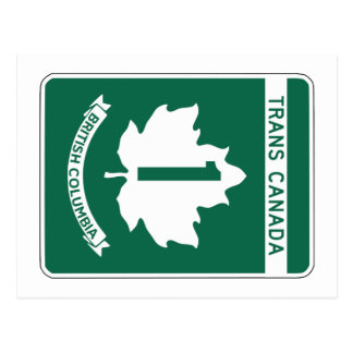 British Columbia, Trans-Canada Highway Sign Postcard