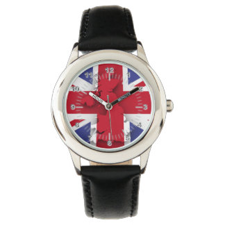 British country flag wrist watches