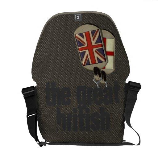 British Dog Tags Messenger Bags
