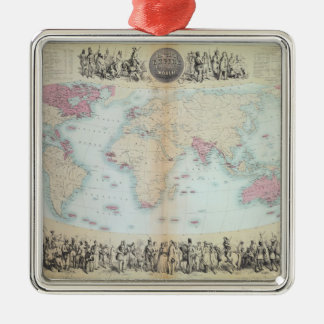 British Empire throughout the World Metal Ornament