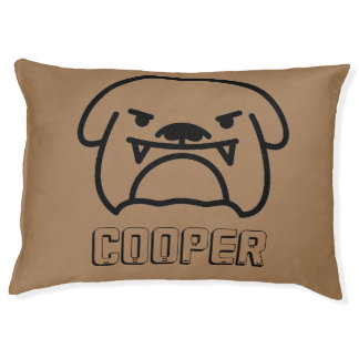 British / english bulldog face pet pillow bed
