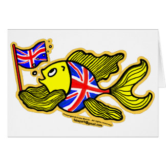 British Fish with a Union Jack Flag Card