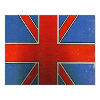 british flag 11 cm x 14 cm invitation card