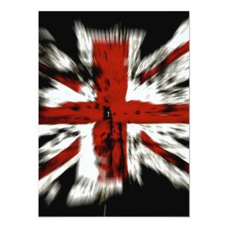 British Flag 14 Cm X 19 Cm Invitation Card