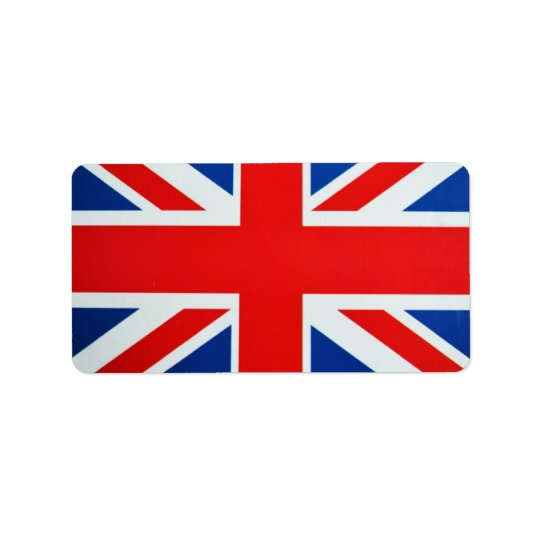 British Flag Address Label