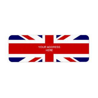 British flag address labels   Union jack design