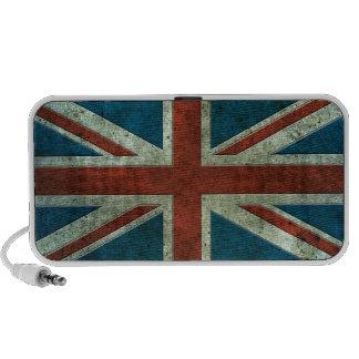 British Flag Aged Steel Effect Laptop Speakers