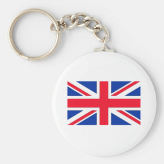 British Flag Basic Round Button Key Ring