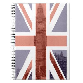 British Flag Big Ben Spiral Notebook