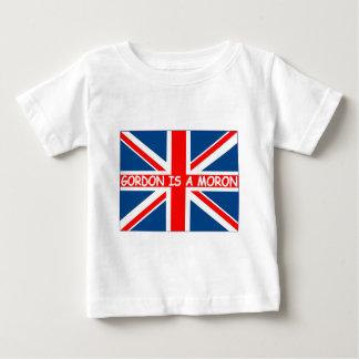 British flag,British humour anti Gordon Brown Tshirt