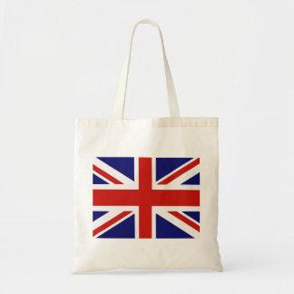 British flag budget tote bag