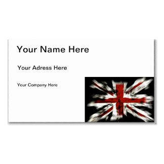 British Flag Business Card Template