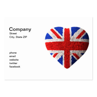 British flag pack of chubby business cards