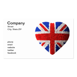 British flag business cards