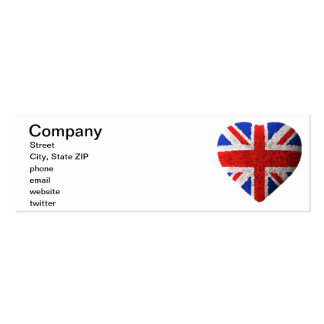 British flag pack of skinny business cards