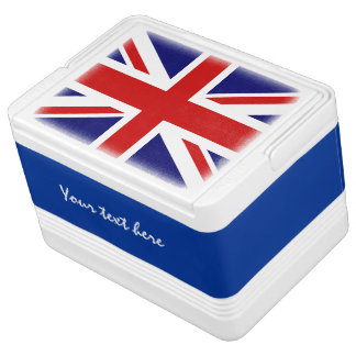 British flag can cooler box with Union Jack design