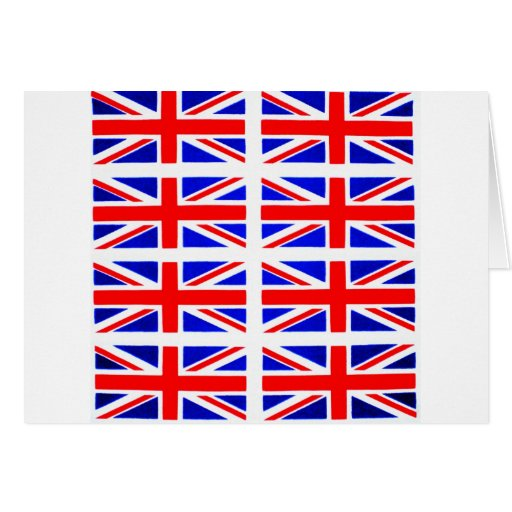 BRITISH FLAG GREETING CARD