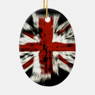 British Flag Ceramic Oval Decoration
