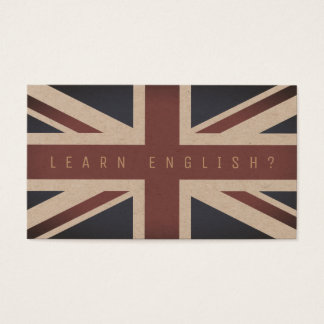 British flag cover look business card