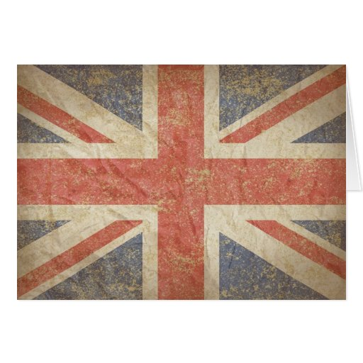 British Flag Distressed Greeting Card