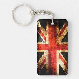 British flag Double-Sided rectangular acrylic key ring