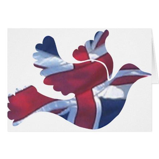 British Flag Dove Greeting Cards