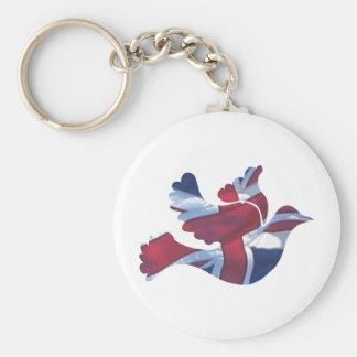 British Flag Dove Key Chains
