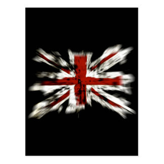 British Flag Explosion Effect Postcard